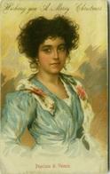 G. ANGIOLINI SIGNED 1910s POSTCARD - POPOLANA DI VENEZIA - EDIT. GOBBATO (BG706) - Otros Ilustradores
