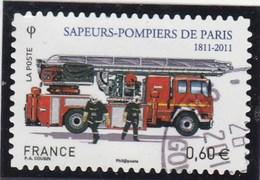 FRANCE 2011 ADHESIF SAPEURS POMPIERS  OBLITERE  YT 602 - Sellos Autoadhesivos