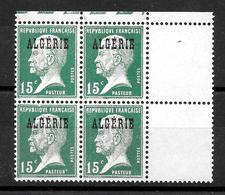 """ALGERIE Française : """"Pasteur""""  N° 11 Bloc De 4  Neuf ** .. TB - Neufs"""