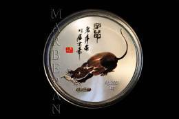 "MEDALLA HORÓSCOPO CHINO RATA ""QI BAISHI"" (40 Mm) - China"