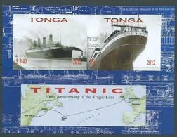 Tonga 2012 Yvertn° Bloc 49 ND Ongetand  *** MNH Cote 7 € Transport Bateaux Ships - Tonga (1970-...)