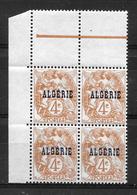 """ALGERIE Française : Type """"Blanc""""  N° 5 Bloc De 4  Neuf ** .. TB - Neufs"""