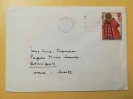 1972 BUSTA GRAN BRETAGNA GREAT BRITAIN BOLLO NATALE CHRISTMAS ANNULLO LONDON OBLITERE' ETICHETTA - 1952-.... (Elisabetta II)