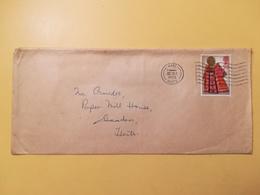 1972 BUSTA GRAN BRETAGNA GREAT BRITAIN BOLLO NATALE CHRISTMAS ANNULLO WARE OBLITERE' - 1952-.... (Elisabetta II)