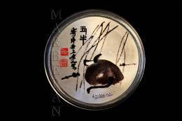 "MEDALLA HORÓSCOPO CHINO BUEY ""QI BAISHI"" (40 Mm) - China"