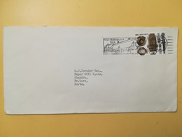 1972 BUSTA GRAN BRETAGNA GREAT BRITAIN BOLLO B.B.C. ANNULLO STRATFORD OBLITERE' ETICHETTA - 1952-.... (Elisabetta II)