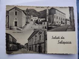 Q452 CARTOLINA Di SALUTI DA SOLOPACA VEDUTINE  BENEVENTO  VIAGGIATA - Benevento