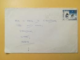 1973 BUSTA GRAN BRETAGNA GREAT BRITAIN BOLLO NATALE CHRISTMAS ANNULLO CAMBRIDGE OBLITERE' ETICHETTA - 1952-.... (Elisabetta II)