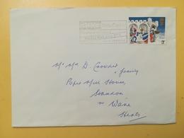 1973 BUSTA GRAN BRETAGNA GREAT BRITAIN BOLLO NATALE CHRISTMAS ANNULLO CARLISLE OBLITERE' ETICHETTA - 1952-.... (Elisabetta II)