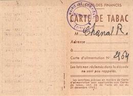 Lot Cartes De Tabac Compiègne Oise 1946 1947  Timbre Fiscal Contribution - Documenti