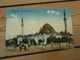 Cpa Constantinople Mosquée Bayazid .Contrôle Interallié Poste De Galata Secteur Postal 502 1922 - Turquie