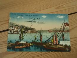 Cpa Constantinople Entrée De La Mer Noire .Contrôle Interallié Poste De Galata Secteur Postal 502 1922 - Turquia