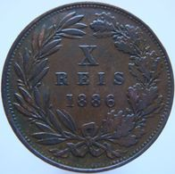 Portugal 10 Reis 1886 VF / XF - Portugal