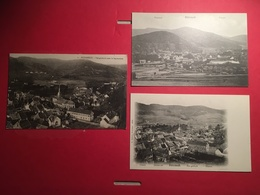 Lot 3 CPA  Schirmeck Elsass Alsace Vosges Vogesen Vers 1900 , Vue Générale - Schirmeck