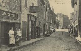 LANGEAC Charcuterie Mme BONNEVAL (précision Manuscrite !)  Rue Du Pont 1915 - Langeac