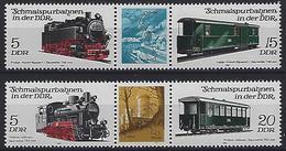 Germany (DDR) 1981  Schmalspurbahnen (**)  MNH Mi.2629-2632 - Unused Stamps