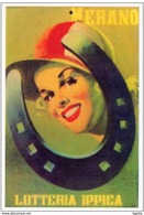 """LOCANDINA LOTTERIA NAZIONALE """"IPPICA DI MERANO"""" ANNO 1948 DI M. ROVERONI MISURE 16,9x24,2 COME DA FOTO - Biglietti Della Lotteria"""