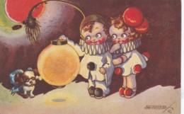 Illustrateur SCRILLI  - Pierrot Et Colombine - Chien Et Plume De Paon Série1839-2 (lot Pat  90 ) - Illustratoren & Fotografen