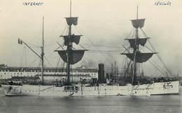 """BATEAUX DE GUERRE -croiseur, """"lnfernet"""""""" (format 14cm X 9cm Environ, Cachet Marius Toulon) - Boten"""