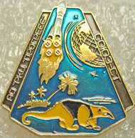 356-4 Space Russian Pin. Soyuz-ST Satellite  Progress Plant. Anteater - Space