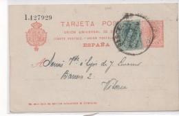 3040   Entero Postal   Barcelona 1921 Alfonso Xlll, Medallon, Nº 53 E - Enteros Postales