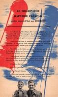 Militaria > 1939-45 Tract Patriotique Le Millionnième Rapatrié Français Arrive Au Bourget Pour Orsay - 1939-45