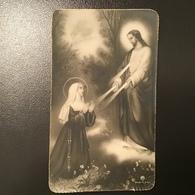 """Antico Santino - Holy Card """" GESÙ BENEDISCE UNA SANTA """" Ed.AR - Religión & Esoterismo"""