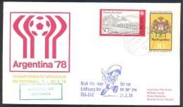 Germany 1978 Cover; Football Fussball Soccer Calcio World Cup 1978 Argentina 78: Lufthansa; Noch 100 Tage Bis Zu WM - World Cup