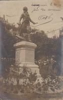 Granville Carte Photo 50  Manche  Peu Courante Inauguration 21 Juillet 1907  Statue Pleville Lepelley  Notables Marins - Granville