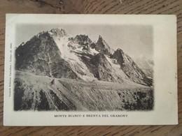 Cpa, Monte Bianco E Brenva Del Gramont ,éd Societa Editrice Cartoline Torino,écrite 1912 ?, Timbre - Italy