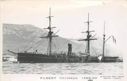 """BATEAUX DE GUERRE - Croiseur  """"Fabert""""  (éditeur Marius Toulon). - Guerre"""