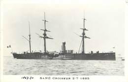 """BATEAUX DE GUERRE - Croiseur  """"Sané""""  (éditeur Marius Toulon). - Guerre"""