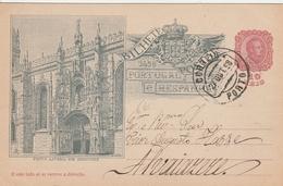 Portugal Entier Postal Illustré 1898 - Entiers Postaux