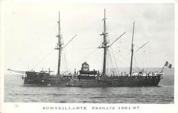 """BATEAUX DE GUERRE - Frégate """"Surveillante"""" (éditeur Marius Toulon). - Guerre"""