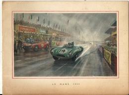 24 HEURES DU MANS 1954 .CARTE DE VOEUX JAGUAR + SIGNATURE - Voitures (Courses)