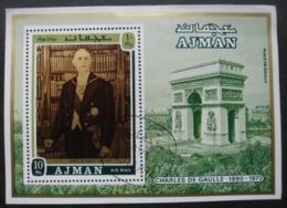 AJMAN Bloc Général De Gaulle Oblitéré - Adschman
