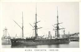 """BATEAUX DE GUERRE - Corvette """"Alma"""" (éditeur Marius Toulon). - Guerre"""