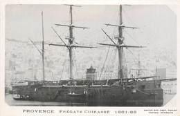 """BATEAUX DE GUERRE - Frégate Cuirassé """"Provence"""""""" (éditeur Marius Toulon). - Guerre"""