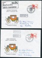 1979 200th Anniversary Postkontor X 7 Covers.Nakskov Rodby Maribo Nysted Vordingborg Nykobing Sakskobing. Slania Europa - Covers & Documents