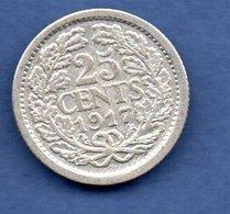 Pays - Bas   -  25 Cents 1917   -  Km # 146  -  état  TB+ - 25 Cent