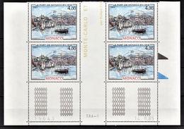 MONACO 1985 - BLOC DE 4 TP / N° 1492 - NEUFS** COIN DE FEUILLE / DATE - Nuevos