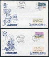 1980 Denmark X 5 Det Danske Spejderkorps Scout Covers. - Covers & Documents