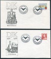 1986 Denmark X 4 DJK Railway Club, Trains Covers. Slania - Covers & Documents