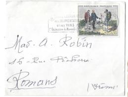 SUR  LETTRE 1963..N°1363.. - Marcophilie (Lettres)