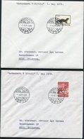 1976-87 Denmark X 9 Tivoli Garden Postmark Covers. - Covers & Documents
