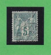SAGE N° 75 TYPE II A   -  CACHET A DATE    - REF 1602 - - 1876-1898 Sage (Type II)