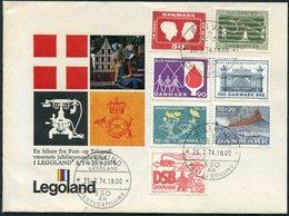 1974 Denmark Billund Legoland Postmark Cover. Slania - Covers & Documents