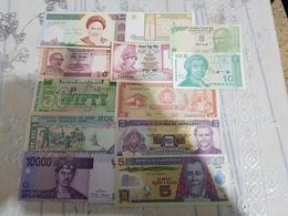 COLLECTION DE 12 BANKNOTES UNC..... - Banknotes