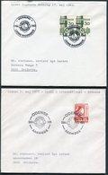 1969-75 Denmark X 4 Lions International Postmark Covers - Lettere