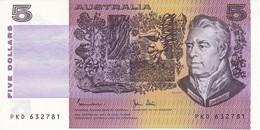 BILLETE DE AUSTRALIA DE 5 DOLLARS DEL AÑO 1985 SIN CIRCULAR   (BANKNOTE) UNCIRCULATED - Emisiones Gubernamentales Decimales 1966-...
